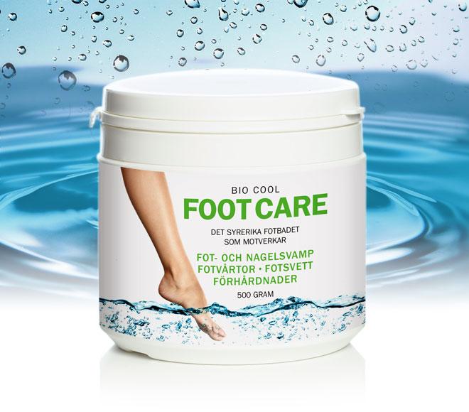 Bio Cool fotbad motverkar fot och nagelsvamp